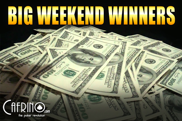 Big poker weekend winners